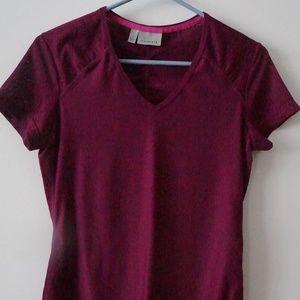 Athleta Purple Short Sleeve Top Size S